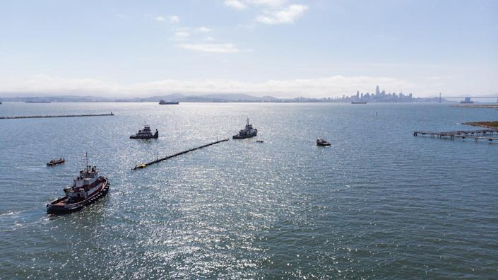 180518_TowTest_Departure 1 The Ocean Cleanup