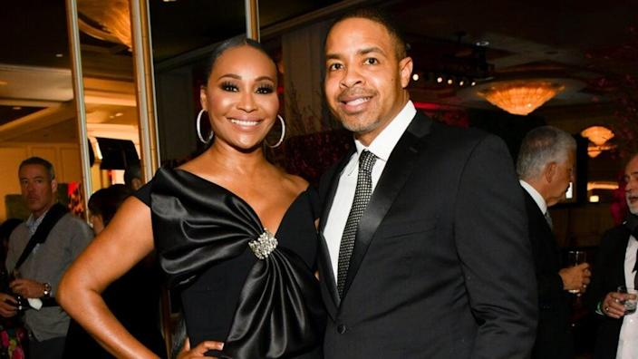 """The wedding of """"Real Housewives of Atlanta"""" star Cynthia Bailey to Atlanta sports show host Mike Hill, seen here in February, was not filmed by Bravo due to coronavirus concerns. (Photo by Rodin Eckenroth/Getty Images)"""