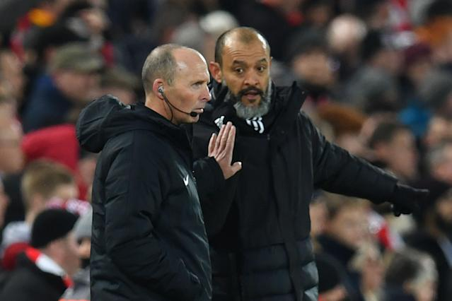 Wolves' manager Nuno Espirito Santo has plenty of reason to hate VAR. (Paul Ellis/AFP/Getty Images)