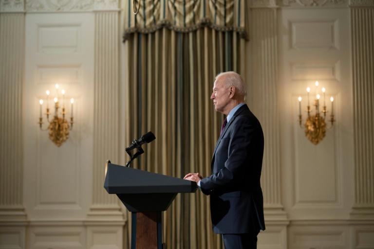 US President Joe Biden, seen speaking at the White House on February 5, 2021, has vowed to step up efforts on LGBTQI rights
