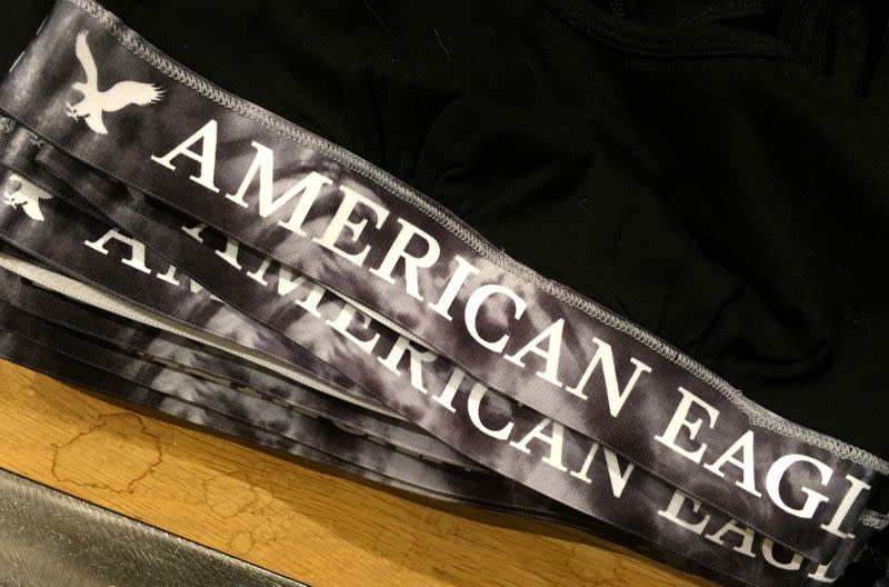 Clothing is seen for sale in an American Eagle Outfitters retail store in Manhattan, New York