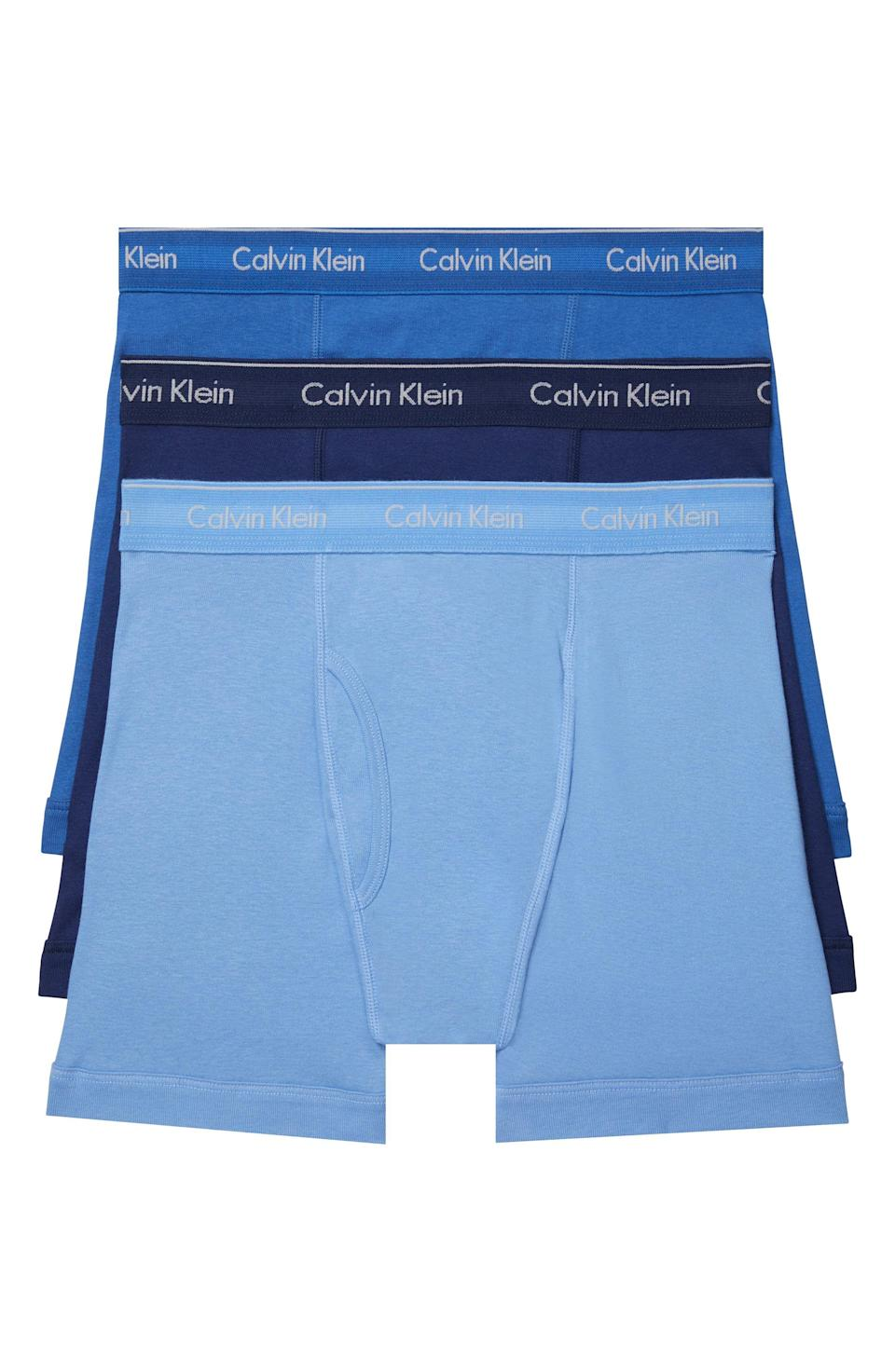 """<p><strong>Calvin Klein</strong></p><p>nordstrom.com</p><p><strong>$36.12</strong></p><p><a href=""""https://go.redirectingat.com?id=74968X1596630&url=https%3A%2F%2Fwww.nordstrom.com%2Fs%2Fcalvin-klein-3-pack-boxer-briefs%2F5925184&sref=https%3A%2F%2Fwww.esquire.com%2Fstyle%2Fg36535194%2Fnordstrom-mens-sale-half-yearly-spring-2021%2F"""" rel=""""nofollow noopener"""" target=""""_blank"""" data-ylk=""""slk:Shop Now"""" class=""""link rapid-noclick-resp"""">Shop Now</a></p><p>Tired: Buying underwear not on sale. Wire: But buying underwear on sale! </p>"""