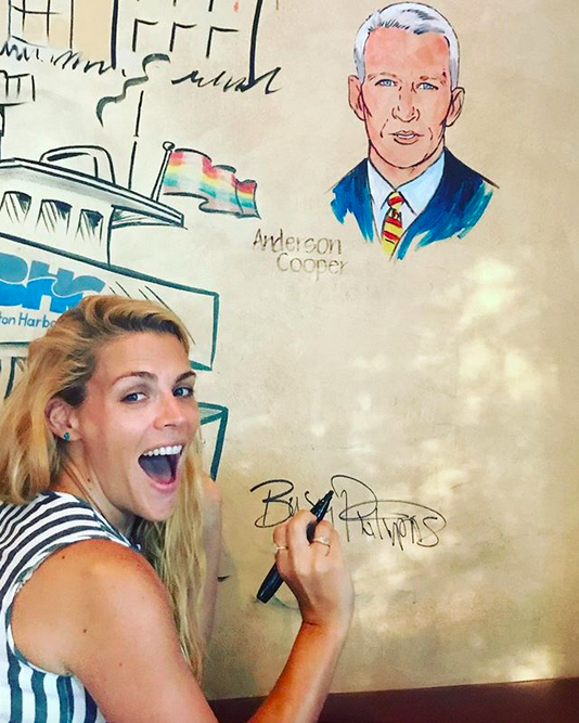 "<p>""They're putting my picture on the wall of the @palmrestaurant in BOSTON!? What!?!,"" exclaimed the actress, as she inked her autograph right under Anderson Cooper's pic. ""It's my BEST DAY EVER!"" (Photo: <a href=""https://www.instagram.com/p/BXl3aW7BgTo/?taken-by=busyphilipps"" rel=""nofollow noopener"" target=""_blank"" data-ylk=""slk:Busy Phlipps via Instagram"" class=""link rapid-noclick-resp"">Busy Phlipps via Instagram</a>) </p>"
