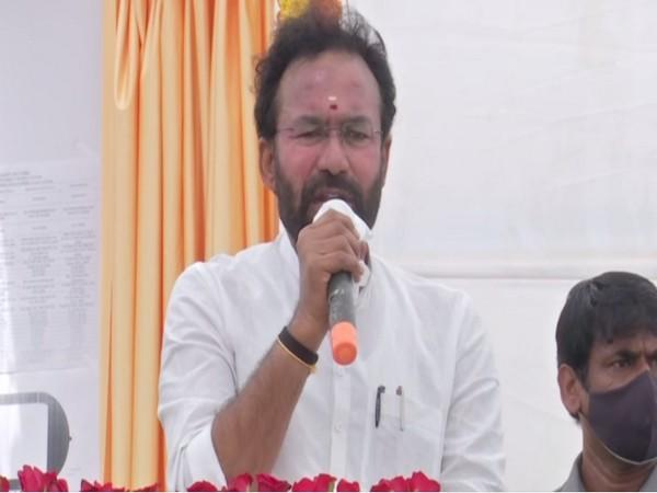 Union Minister G Kishan Reddy speaking at the event. (Photos/ANI)