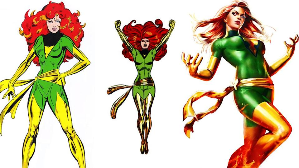 When transforming from Marvel Girl to Phoenix, X-Man Jean Grey got a massive costume improvement.