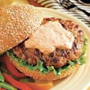 "<p>By incorporating ginger, mint, and hot sauce, this crowd-pleasing pork burger will give you just the right amount of ""kick."" <br></p><p><em><a href=""https://www.womansday.com/food-recipes/food-drinks/recipes/a14678/spicy-asian-pork-burgers/"" rel=""nofollow noopener"" target=""_blank"" data-ylk=""slk:Get the Spicy Asian Pork Burgers recipe."" class=""link rapid-noclick-resp""><strong>Get the Spicy Asian Pork Burgers recipe.</strong></a></em></p>"