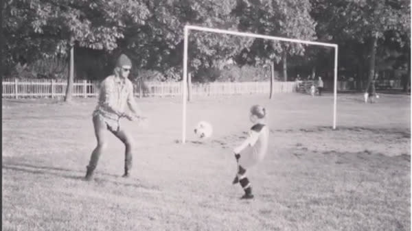 David Beckham Coached His Daughter At Her First Soccer Lesson