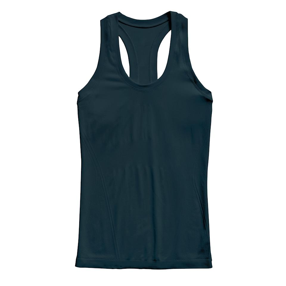 """<p><strong>Athleta</strong></p><p>athleta.gap.com</p><p><strong>$49.00</strong></p><p><a href=""""https://go.redirectingat.com?id=74968X1596630&url=https%3A%2F%2Fathleta.gap.com%2Fbrowse%2Fproduct.do%3Fpid%3D530501202%26cid%3D1117779%26pcid%3D1117779%26vid%3D1%26grid%3Dpds_7_125_1%26cpos%3D7%26kcid%3DCategoryIDs%253D1117779%26ctype%3DListing%26cpid%3Dres637444561670290759%23pdp-page-content&sref=https%3A%2F%2Fwww.prevention.com%2Ffitness%2Fworkout-clothes-gear%2Fg35229014%2Ffitness-awards-2021%2F"""" rel=""""nofollow noopener"""" target=""""_blank"""" data-ylk=""""slk:Shop Now"""" class=""""link rapid-noclick-resp"""">Shop Now</a></p><p>Trainer Amanda Margusity swears by this tank: It's breathable and flattering, and it won't chafe. Testers loved the fit, how well it controlled odors, and the hidden rubber grips that kept it from shifting during workouts.</p>"""