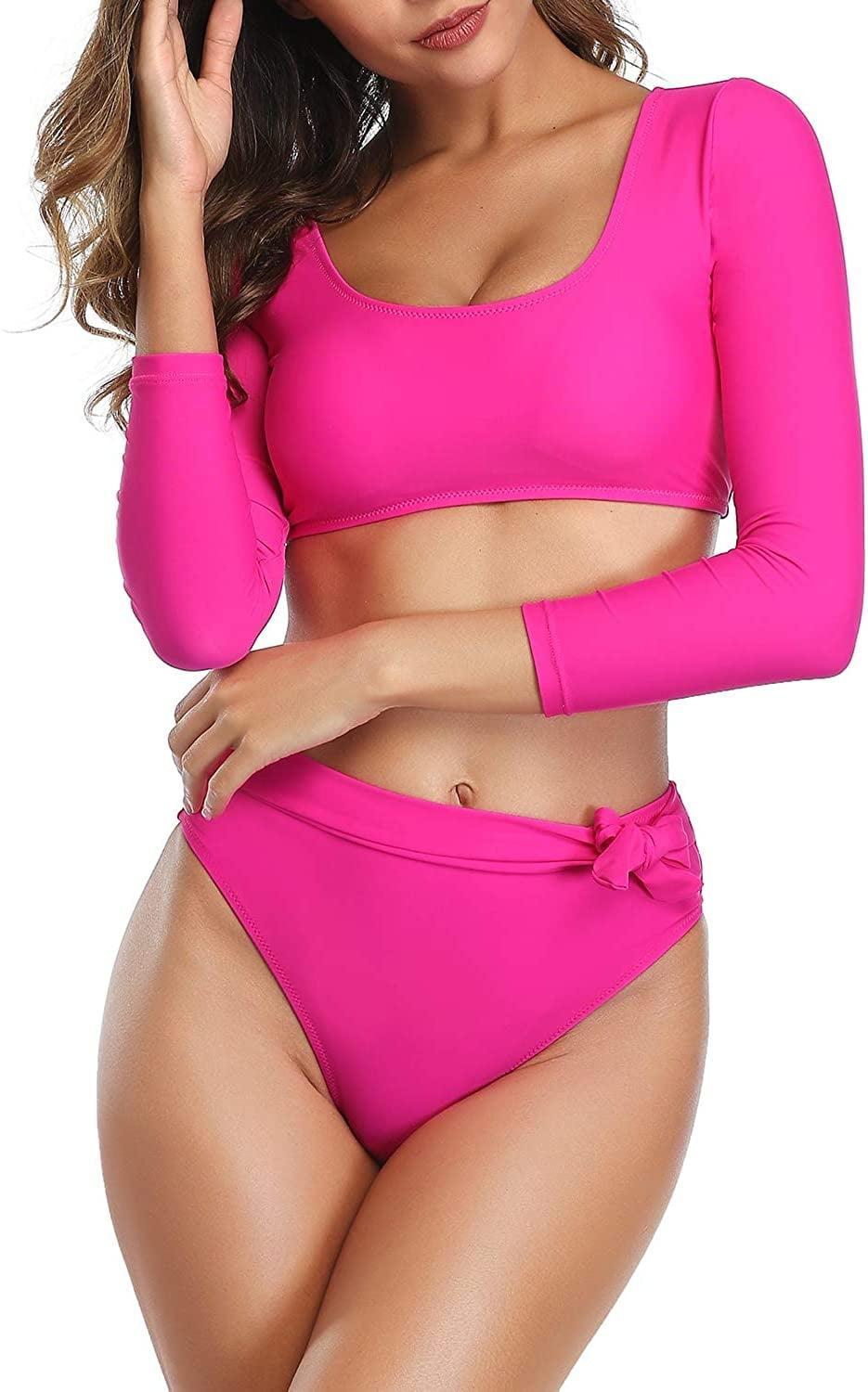 <p>Now, this <span>GirlsUpto High-Waisted Bikini Set</span> ($25) will definitely turn heads, thanks to the hot pink color and sexy silhouette.</p>