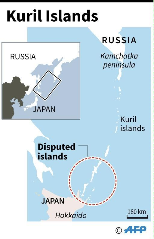 Russia dn Japan have never signed a peace treaty due to their territorial dispute over four islands -- called the Kurils by Russia and the Northern Territories by Japan -- invaded by the Soviet Union in the final days of WWII (AFP Photo/AFP )