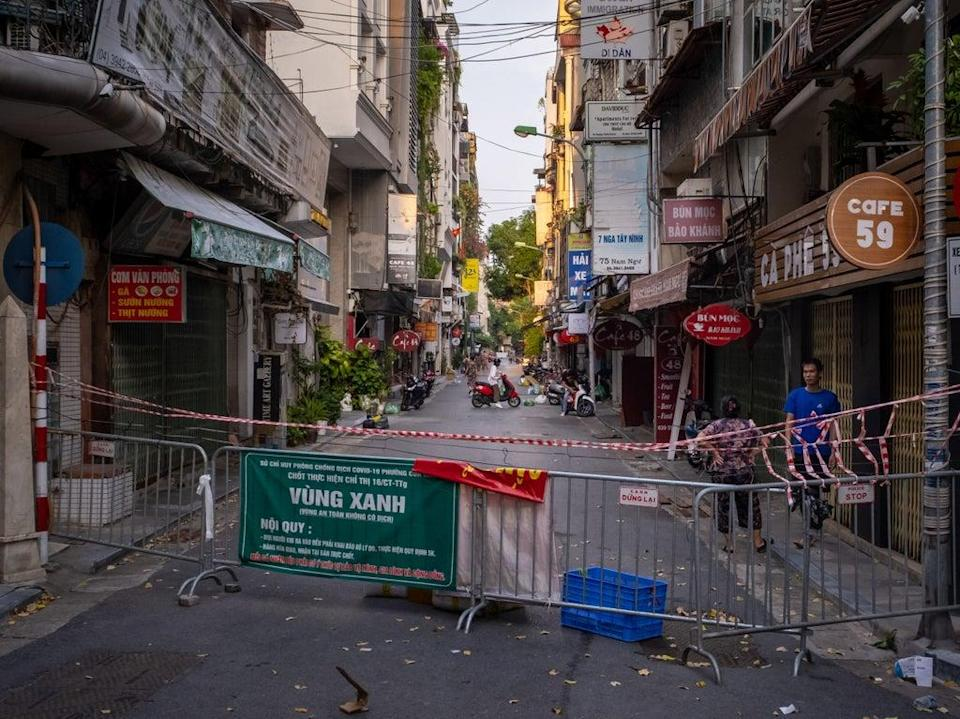 Lockdown restrictions on movement have been imposed across Vietnam as the country grapples with a fresh spike in Covid cases (Getty Images)
