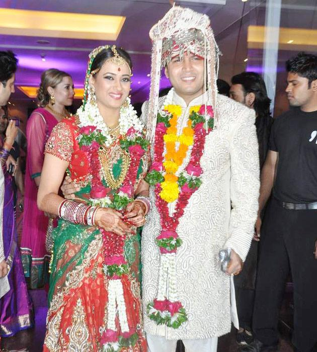 The bride and groom. Shweta and Abhinav