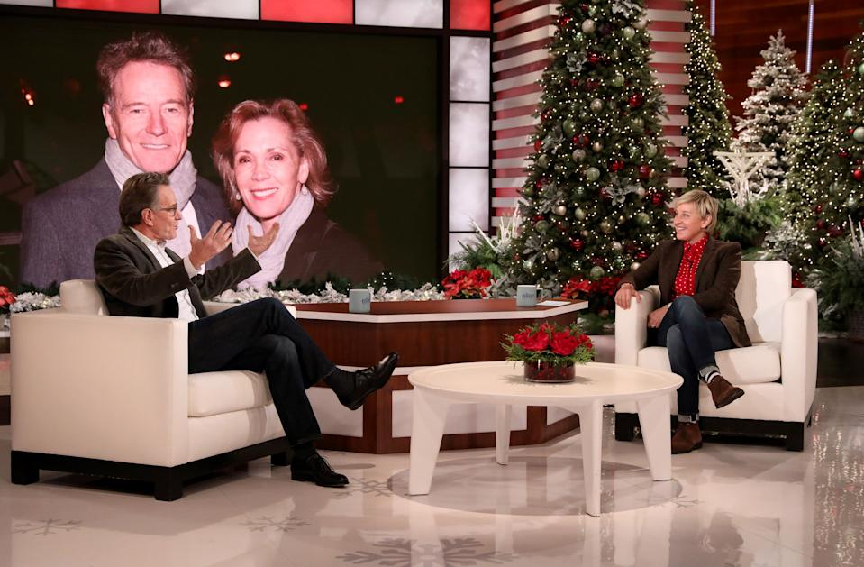 Actor Bryan Cranston appeared on The Ellen DeGeneres Show and discussed the lingering impact of coronavirus (Michael Rozman/Warner Bros.)