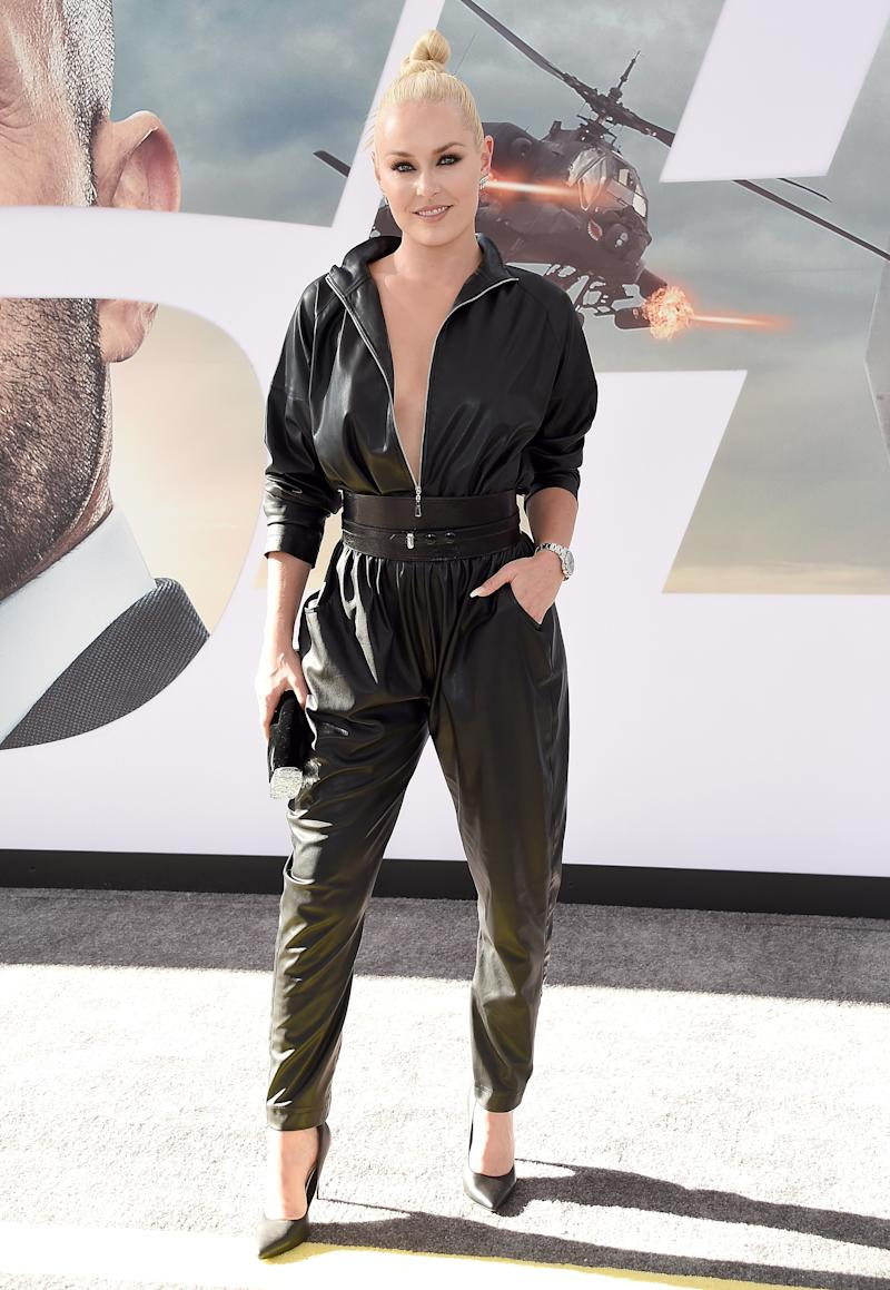 A ski suit for the slopes, a jumpsuit for the red carpet