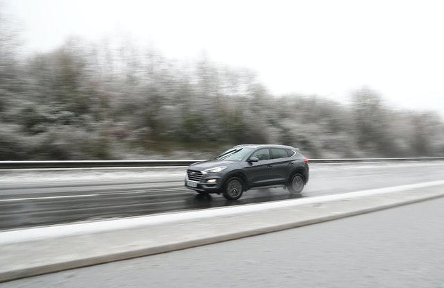 A car in snowy conditions