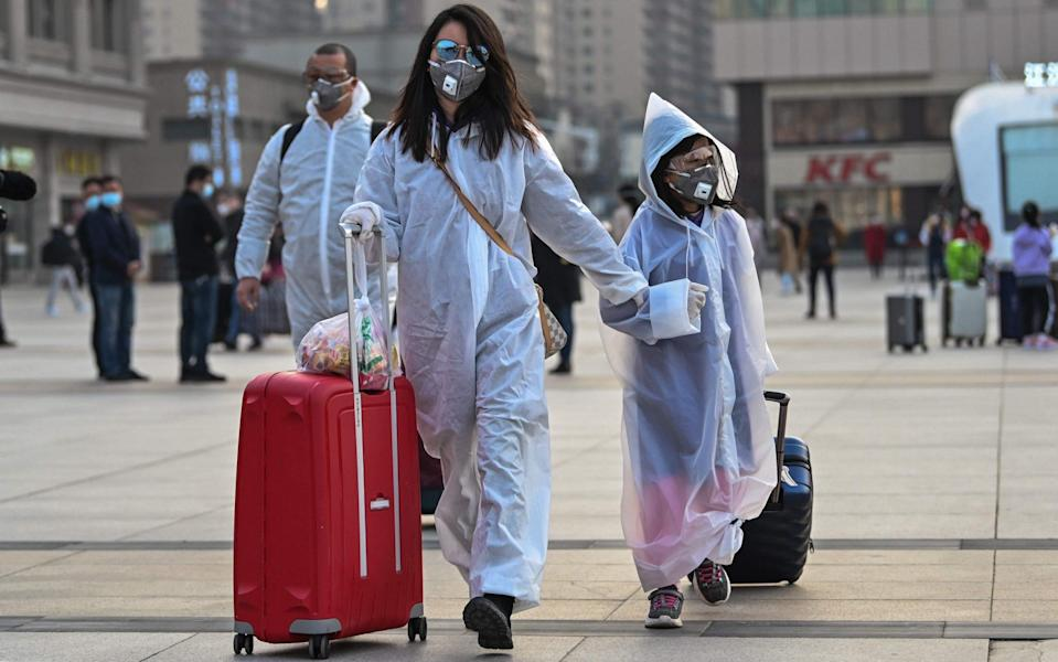 The study took samples from 30 sites across Wuhan, the Chinese city in which coronavirus was first reported - AFP