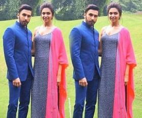Picture shows Deepika Padukone's baby bump as she poses with husband Ranveer Singh