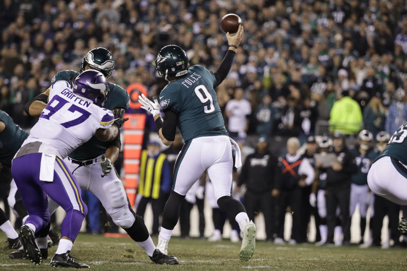 To the surprise of at least one Viking, Nick Foles came out firing in the NFC title game. (AP)