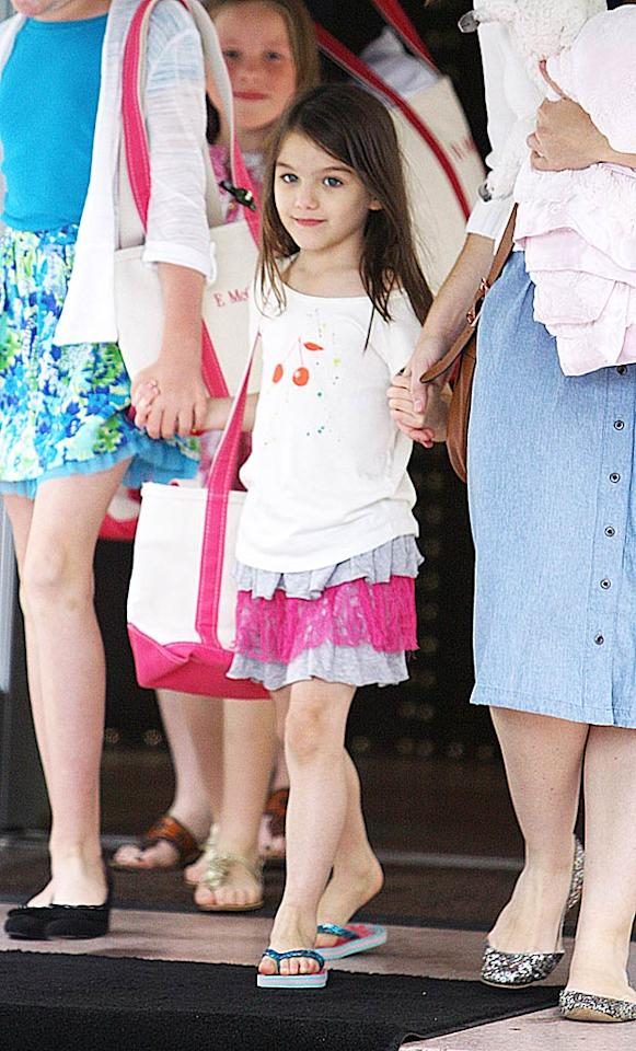 "Perez Hilton reports that Tom Cruise and Katie Holmes' daughter Suri ""has decided to take after her Mom and Dad and pursue a career in acting."" And she's even scored herself a part in a movie. According to Perez, ""Tom already has a role lined up for his darling daughter -- a cameo in his upcoming movie musical, 'Rock of Ages.'"" For what part Suri will play, and other movies she's being discussed to star in, click over to <a href="" http://www.gossipcop.com/suri-cruise-cameo-rock-of-ages-acting-debut-tom-cruise-katie-holmes/ "" target=""new"">Gossip Cop</a>. Sharpshooter Images/<a href=""http://www.splashnewsonline.com/"" target=""new"">Splash News</a> - July 1, 2011"