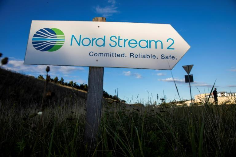 Nord-Stream-2-Logo in Lubmin