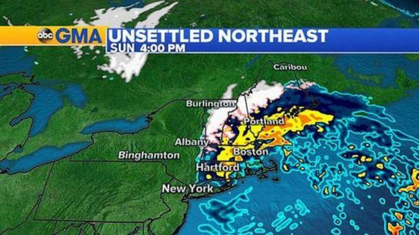 PHOTO: Winter weather advisories are in effect today from Pennsylvania to Maine for that frozen precipitation and a few inches of snow. In New Hampshire and Maine a winter storm warning is in place for up to 7 inches of snow through the night. (ABC News)