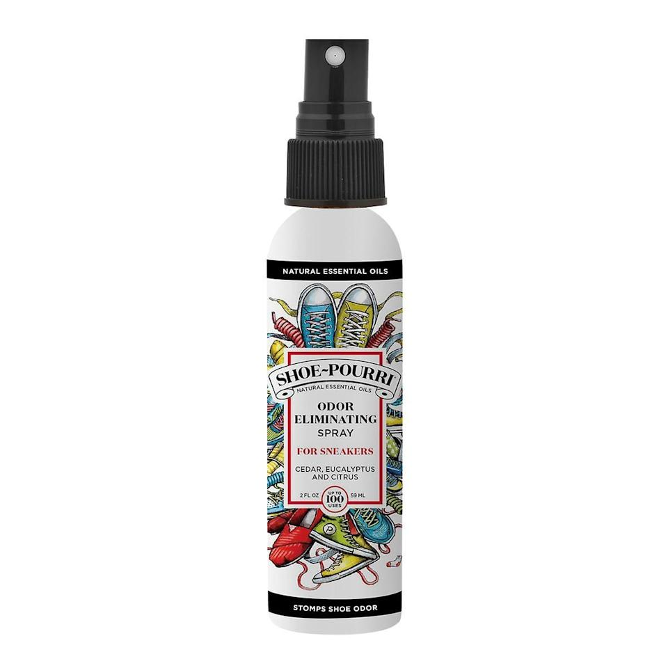 <p>You've probably seen commercials for Poo Pourri, but this <span>Shoe Pourri</span> ($10) is a game changer. Kiss stinky shoes goodbye!</p>