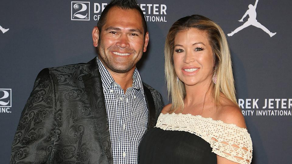 Johnny Damon, pictured here with wife Michelle in 2016.