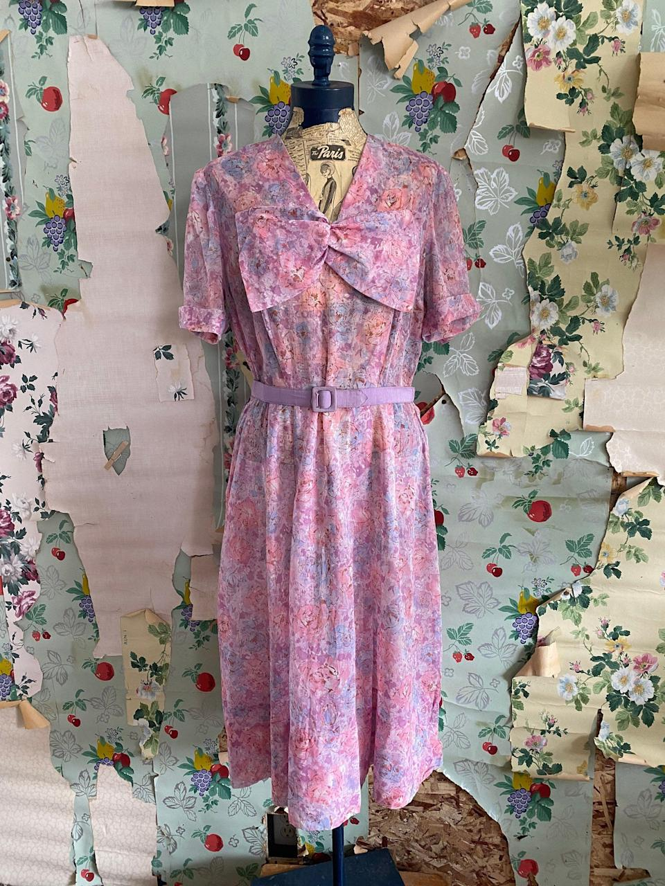 "<br><br><strong>Vintage</strong> Vintage 1940s Sheer Nelly Don Pastel, $, available at <a href=""https://go.skimresources.com/?id=30283X879131&url=https%3A%2F%2Fwww.copperhivevintage.com%2Flisting%2F772103248%2Fvintage-1940s-sheer-nelly-don-pastel"" rel=""nofollow noopener"" target=""_blank"" data-ylk=""slk:Copper Hive Vintage"" class=""link rapid-noclick-resp"">Copper Hive Vintage</a>"