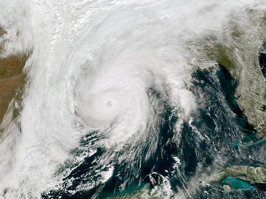 <p>Storm brought 110mph winds</p> (Associated Press)