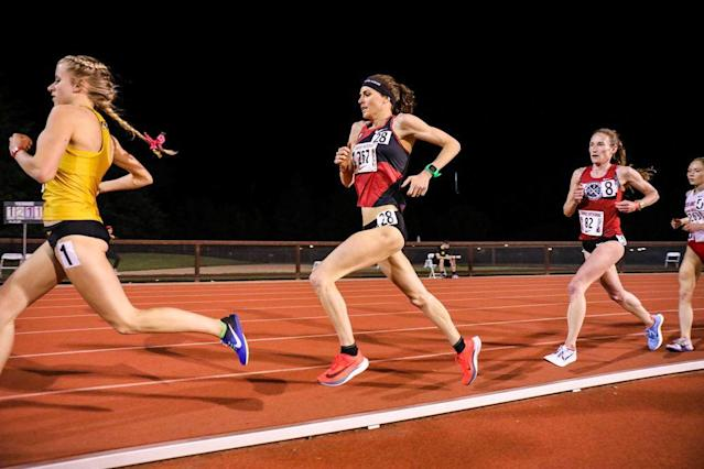 On Friday night, Gwen Jorgensen opened up her 2018 outdoor track season as she begins her transition from the triathlon to the marathon, in pursuit of a gold medal at the 2020 Olympics in Tokyo.