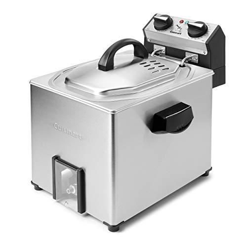 """<p><strong>Cuisinart</strong></p><p>amazon.com</p><p><strong>$161.93</strong></p><p><a href=""""https://www.amazon.com/dp/B07GW1H6YF?tag=syn-yahoo-20&ascsubtag=%5Bartid%7C10055.g.28790655%5Bsrc%7Cyahoo-us"""" rel=""""nofollow noopener"""" target=""""_blank"""" data-ylk=""""slk:Shop Now"""" class=""""link rapid-noclick-resp"""">Shop Now</a></p><p>A rotisserie deep fryer? Yes, you heard that right. Position your 14-pound bird in the rotisserie basket and let it do its thing for the most even cooking and coloring in one hour! This Cuisinart deep fryer also <strong>comes with a separate fry basket for all your fried food needs, and doubles as a steamer,</strong> if you choose to use it without oil. The dials are easy to use, the thermostat monitors the temperature and the timer shuts off the heating element when done. Cleanup is easy, too, with a drain valve and dishwasher-safe parts. </p>"""