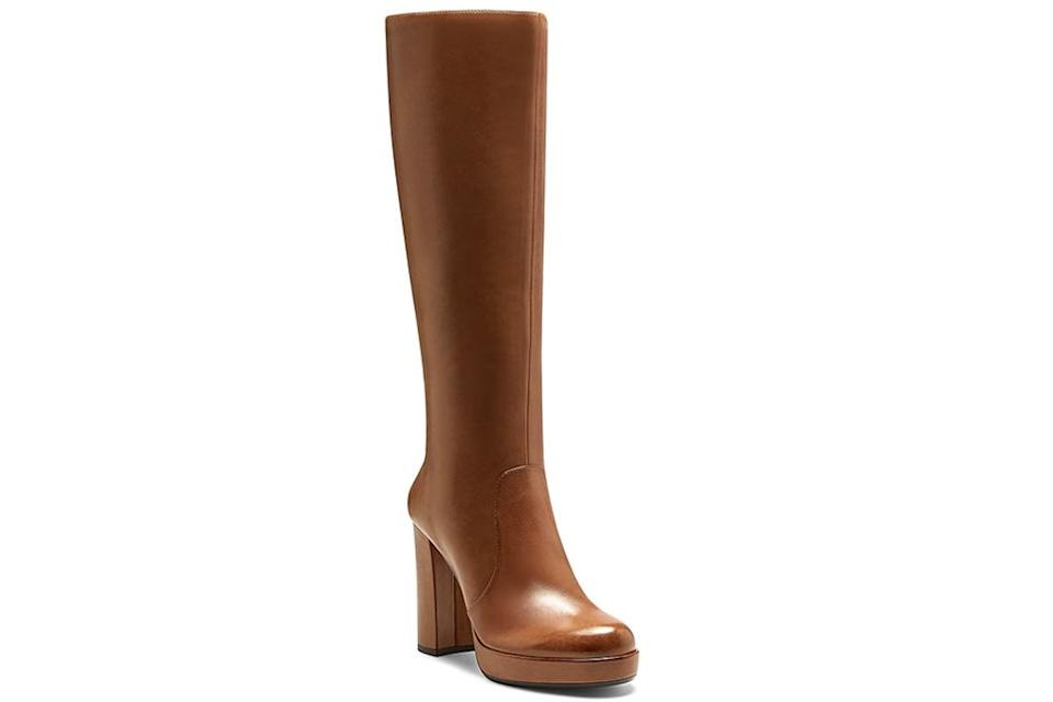brown boots, vince camuto