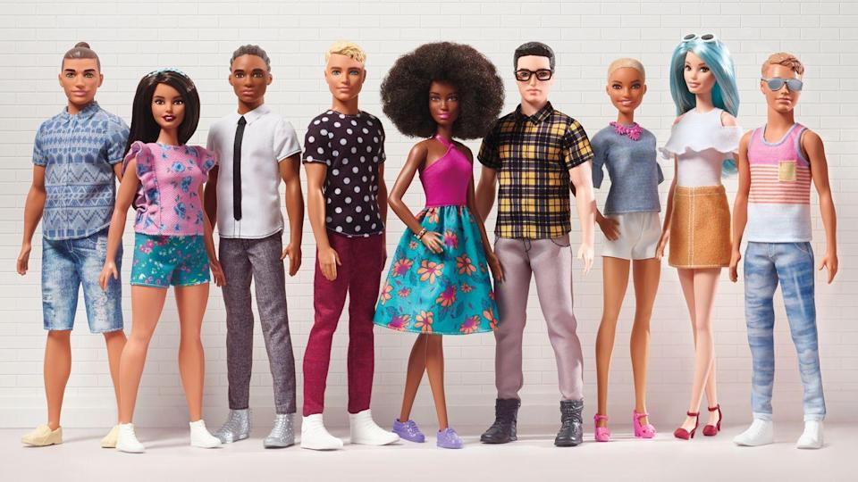 "<p>The Fashionista line expands to Ken dolls, with an array of different boyfriends for Barbie to choose from. </p><p><a href=""http://www.goodhousekeeping.com/childrens-products/news/a44679/new-diverse-ken-dolls/"" rel=""nofollow noopener"" target=""_blank"" data-ylk=""slk:Read more about Ken's makeover »"" class=""link rapid-noclick-resp""><em>Read more about Ken's makeover »</em></a></p>"