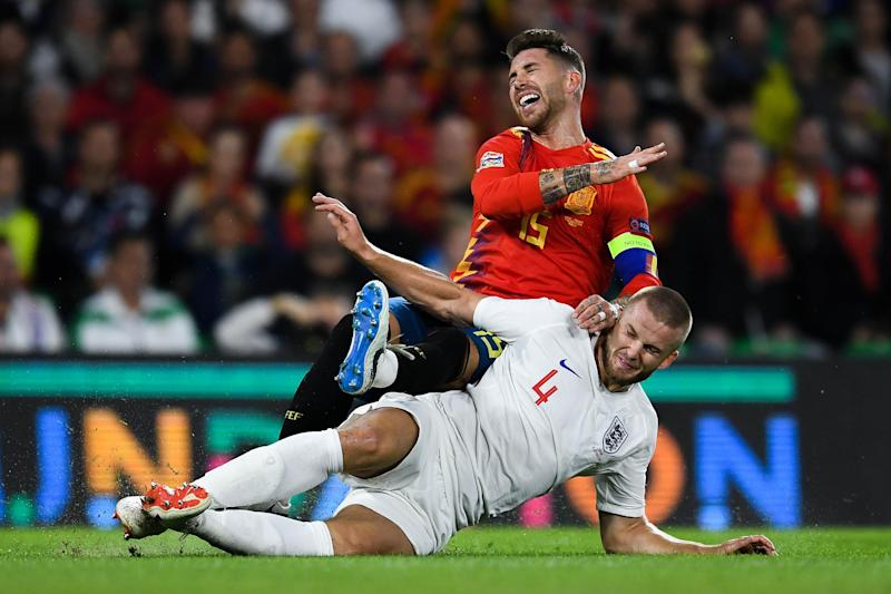 "Dier's challenge on Ramos ""put a marker down."": Getty Images"