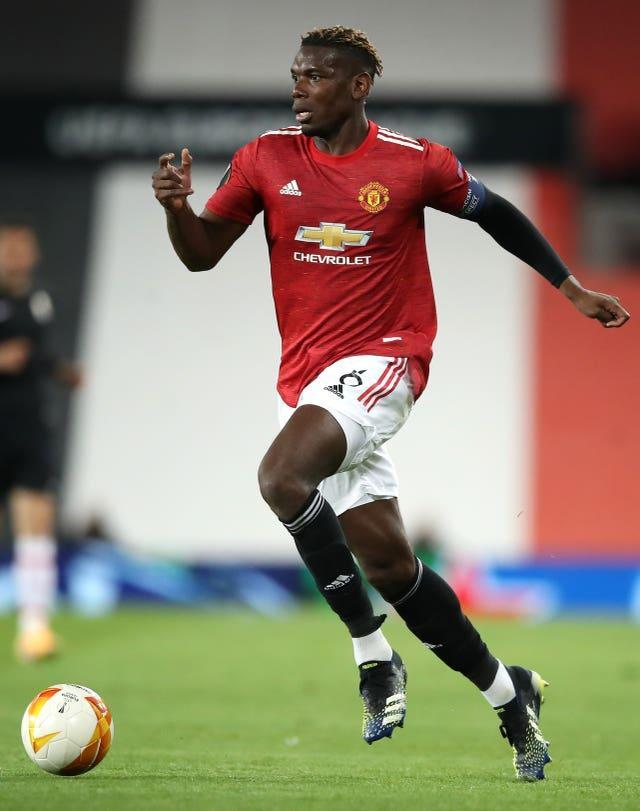 Paul Pogba was replaced at half-time