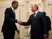 FILE PHOTO: U.S. President Obama meets with Russia's PM Putin in Moscow