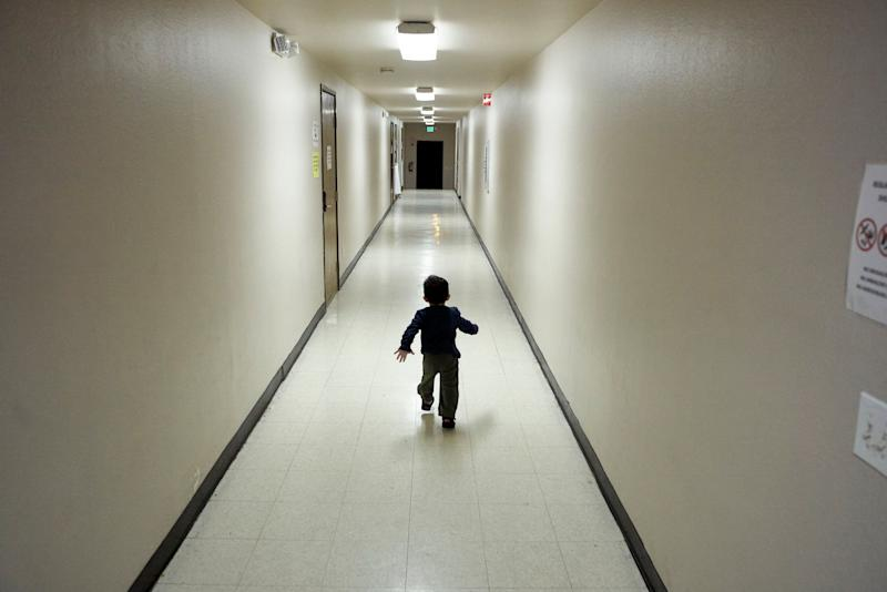 In this Dec. 11, 2018, file photo, an asylum-seeking boy from Central America runs down a hallway after arriving from an immigration detention center to a shelter in San Diego. (Photo: ASSOCIATED PRESS)