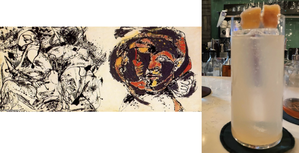 Left: Jackson Pollock, Portrait and a Dream, 1953. Right: Tippling Club, Portrait and a Dream ($24)