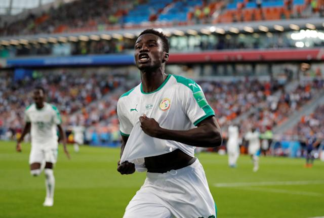 Soccer Football - World Cup - Group H - Japan vs Senegal - Ekaterinburg Arena, Yekaterinburg, Russia - June 24, 2018 Senegal's Moussa Wague celebrates scoring their second goal REUTERS/Carlos Garcia Rawlins TPX IMAGES OF THE DAY