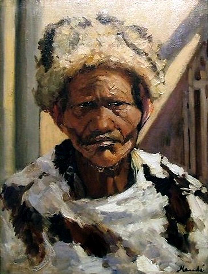 """This undated photo provided by The City of Tshwane on Monday, Nov. 12, 2012, shows a Hugo Naudé """"Hottentot Chief"""" oil on canvas. Police in South Africa said Monday that robbers posing as visitors to an art museum stole more than $2 million worth of art including """"Hottentot Chief"""" from an exhibit near the country's capital. (AP Photo/The City of Tshwane)"""