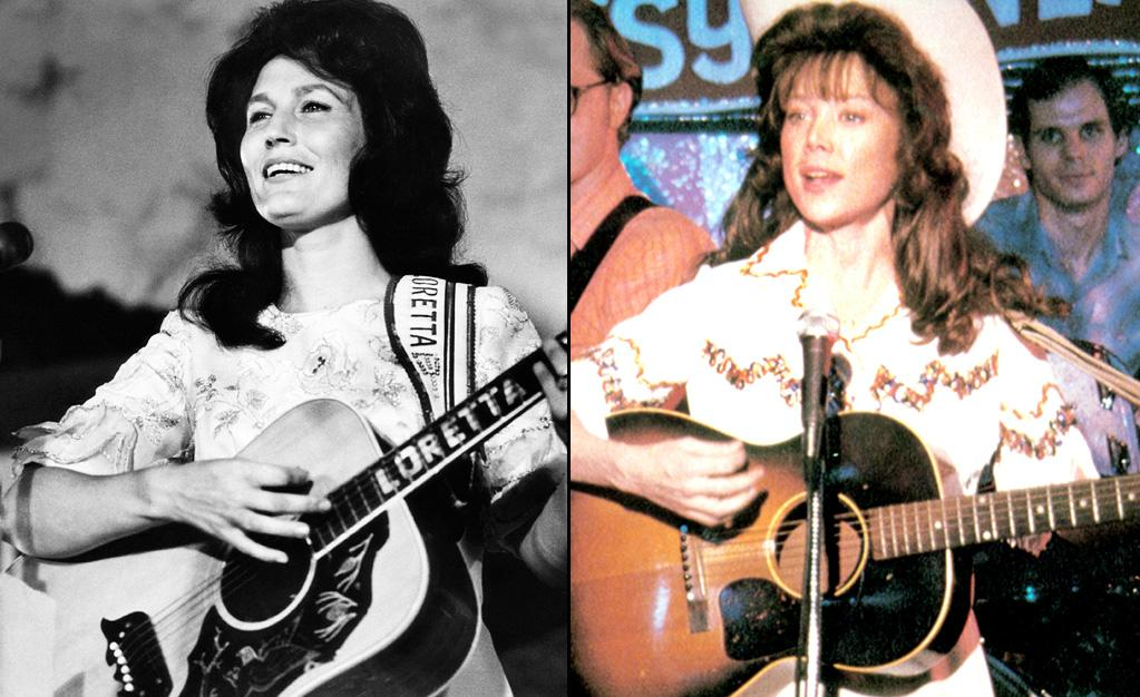 "LORETTA LYNN -- Country Music Superstar  Played by: <a href=""http://movies.yahoo.com/movie/contributor/1800018610"">Sissy Spacek</a> in ""<a href=""http://movies.yahoo.com/movie/1800048899/info"">Coal Miner's Daughter</a>"" (1980)    Loretta Lynn hand-picked Sissy Spacek to play her in the biopic about her life. Spacek was initially hesitant to take on the role. She made her decision when she turned on the radio one day and ""Coal Miner's Daughter"" was playing, which she interpreted as a sign."