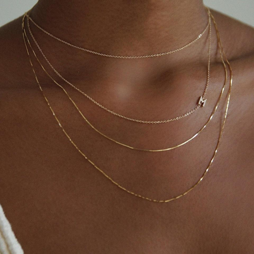 """<p>""""I'm constantly looking for new jewelry pieces, because I've been so into layering. The <span>Amarilo Jewelry Alisha Chain Necklace</span> ($195) is the newest piece I'm adding to my collection. Amarilo has become one of my new favorite brands, because it uses quality materials and solid 14K gold that won't tarnish over time. The brand even offers a lifetime warranty, so you know you're getting a good investment."""" - KJ</p>"""