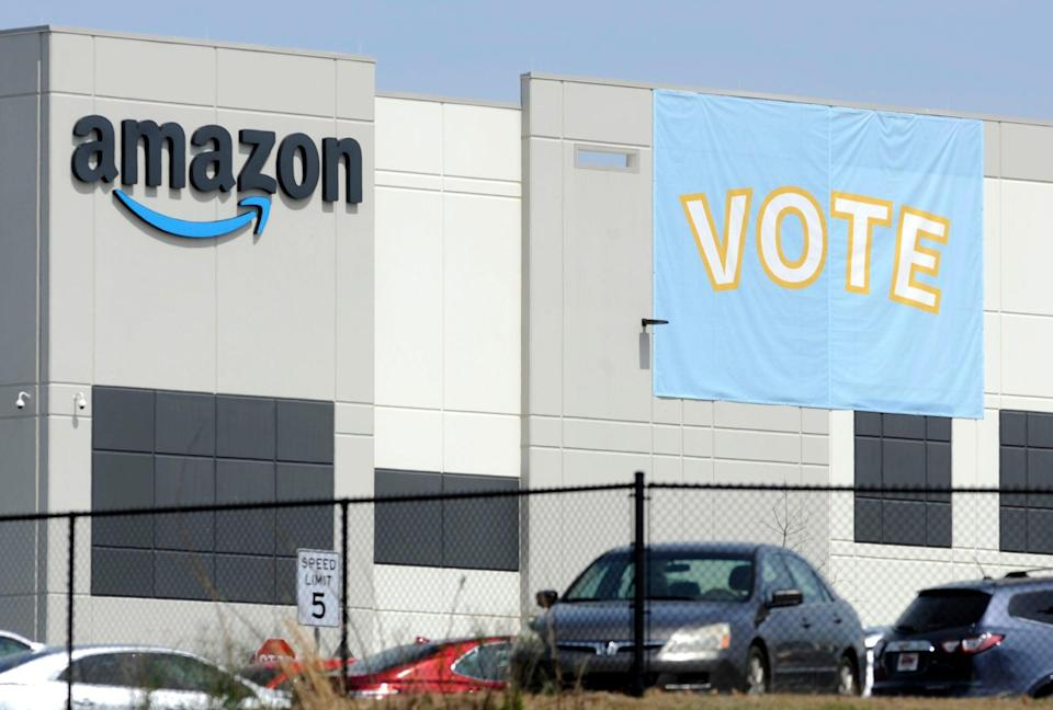 Amazon Union (Copyright 2021 The Associated Press. All rights reserved.)
