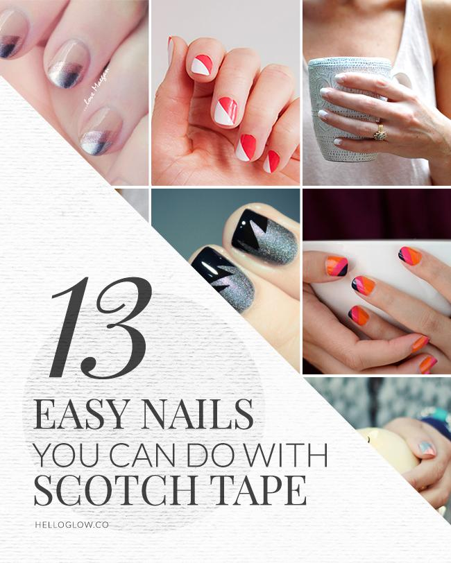manicure nail designs with tape