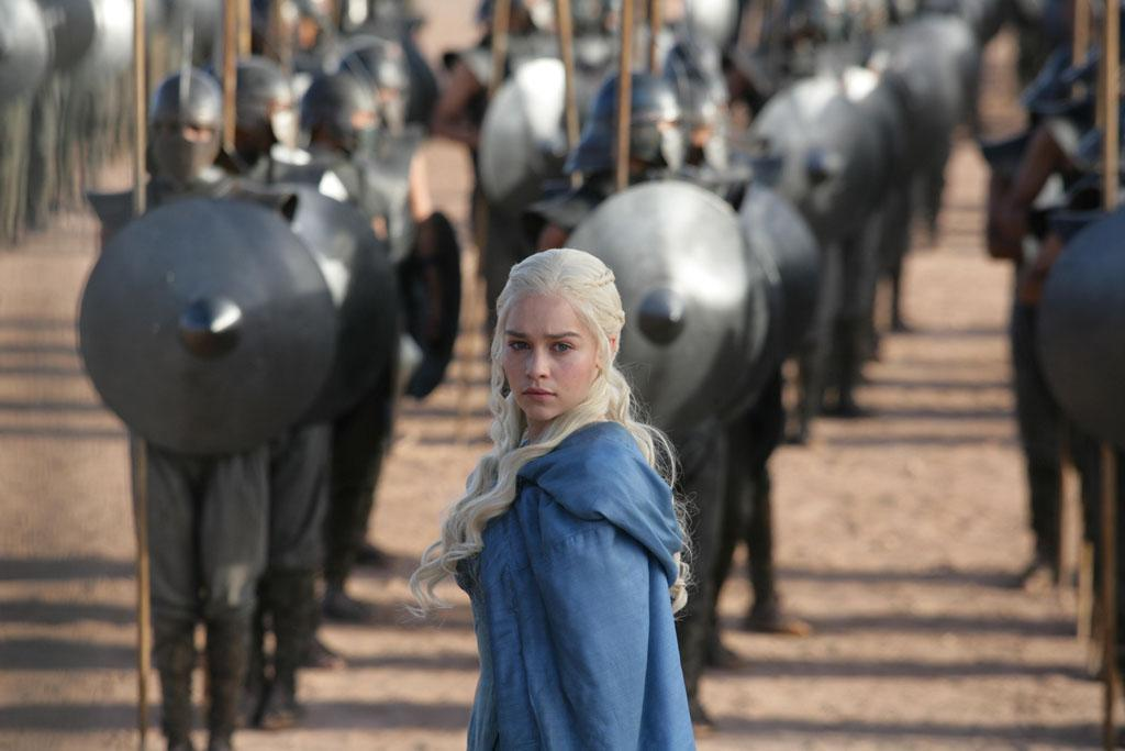 "Emilia Clarke in the ""Game of Thrones"" Season 3 episode, ""And Now His Watch Is Ended."""