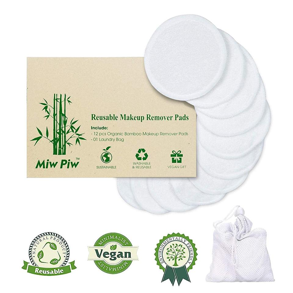 <p>These <span>Reusable Cotton Pads </span> ($10) are a great sustainable alternative to carrying around face wipes or cotton balls. I love using the vegan pads to remove my makeup. Plus, they're even washable, so I can reuse them, making them a good choice for the environment.</p>