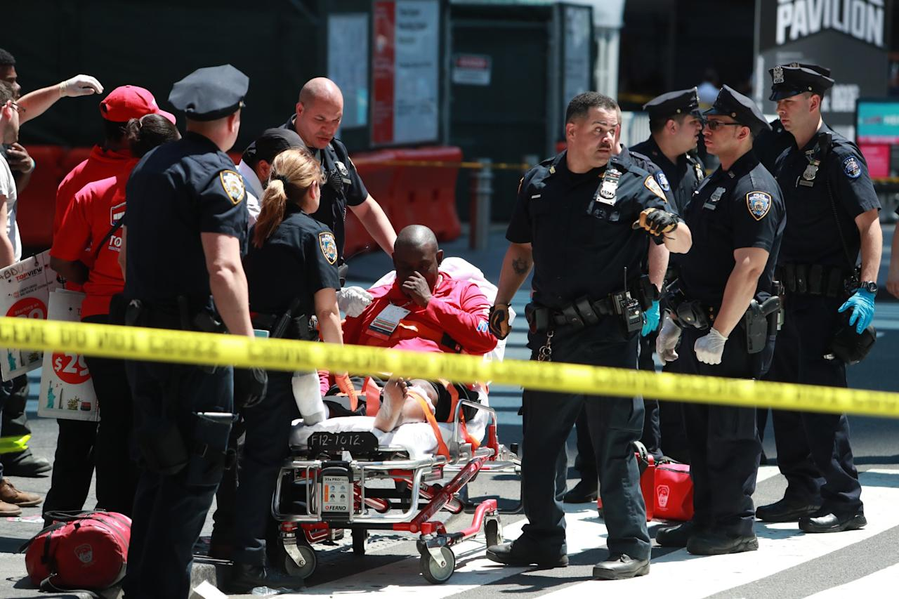 <p>The scene of an accident in New York's Times Square after driver went through a crowd of pedestrians, injuring at least a dozen people, May 18, 2017. (Gordon Donovan/Yahoo News) </p>