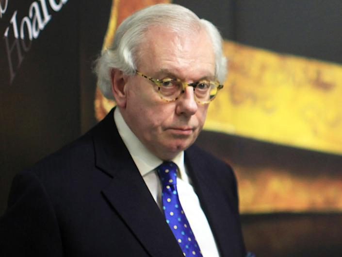 David Starkey is described in the letter as someone holding 'profoundly racist views': Getty