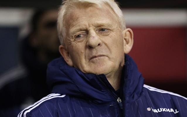 <span>Gordon Strachan is running out of games to push Scotland towards qualification</span> <span>Credit: Ian MacNicol/Getty  </span>