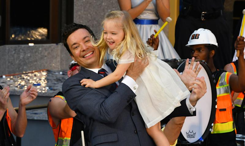 Fallon hastwo daughters ― 4-year-old Winnie and 2-year-old Franny. (Barcroft Media via Getty Images)